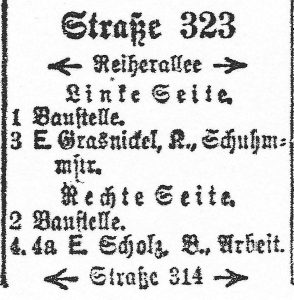 Straße 323=Rallenweg 1938