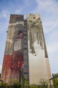 Brutale Hochhaus-Kunst sorgt für Ärger in Tegel _web